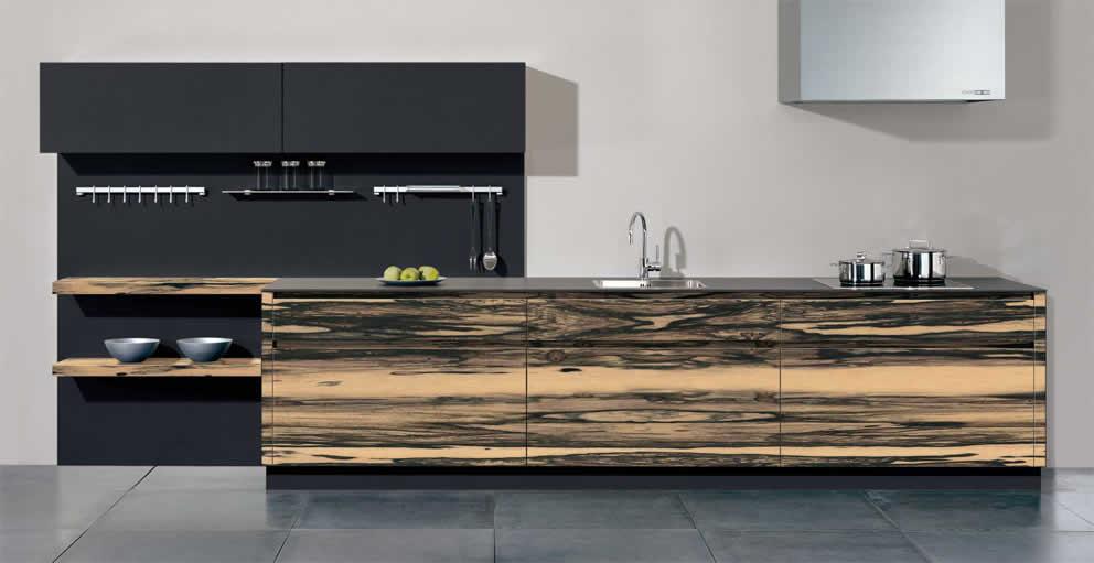 Houten Keuken Op Maat : bax keukens op maat ebbenhout doorlopend houten keukens